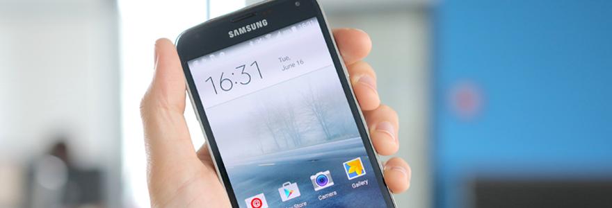 modèle d'un Galaxy S5